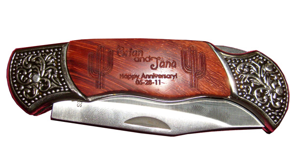 Custom Rosewood Pocket Knives