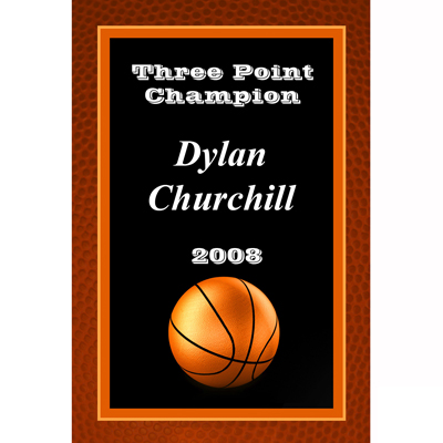 PlaqueMates Basketball Engraved Plaques