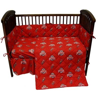 Ohio State Buckeyes Crib Blanket Set