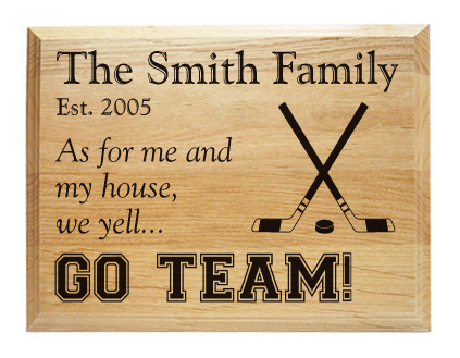 Sports family room plaque