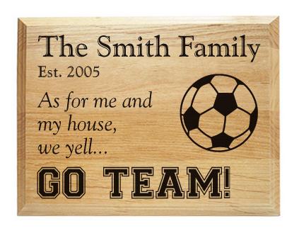 Soccer team sports decor