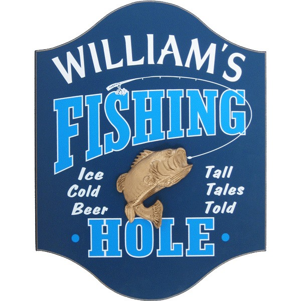 10 plaques for the fisherman 39 s man cave all gifts considered for Fishing decor for man cave