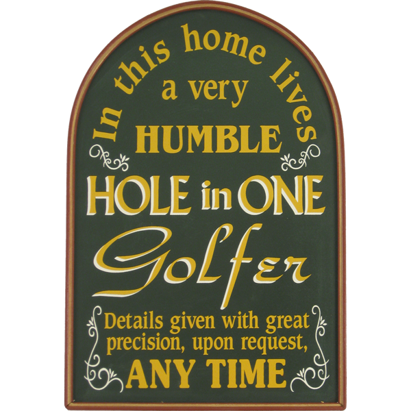 Hole in One wall decor