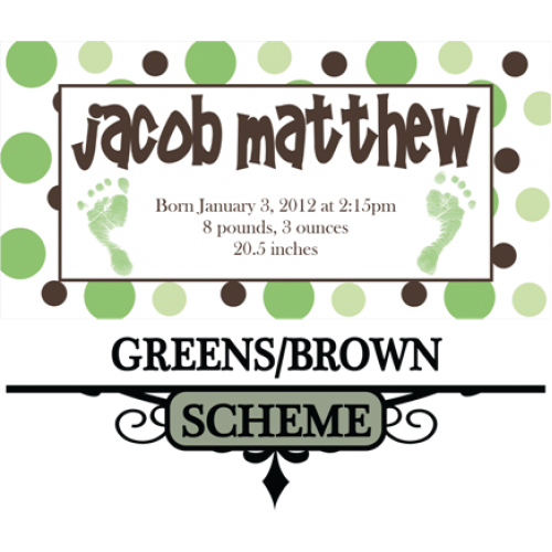 Greens and browns