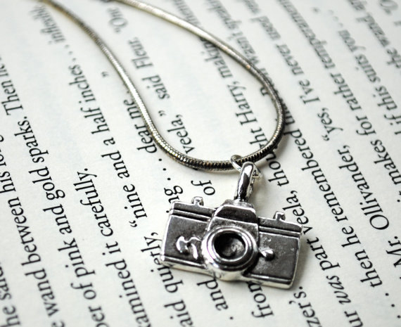 Silver Camera Necklace for Photographer