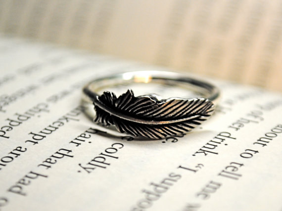 Affordable stocking stuffer feather ring