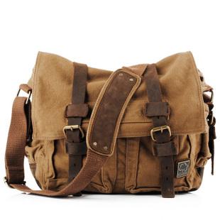 Canvas messenger bag for men