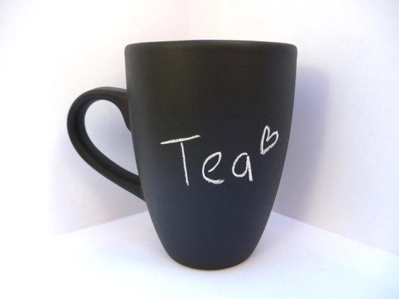 Chalkboard tea mug