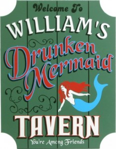 Pub Sign of Drunken Mermaid