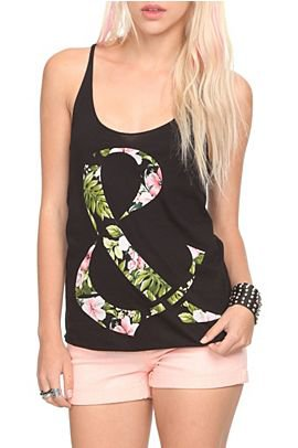 Ampersand Floral Tank Top