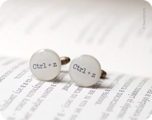 CTRL-Z Geek Cufflinks