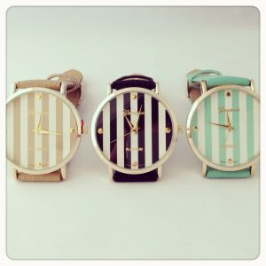 Geneva Striped Watch