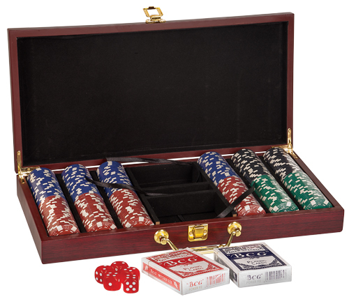Custom Engraved Poker Gift Set