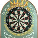 Pub style dart board