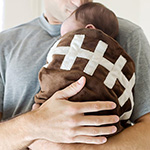 Plush Football Baby Blanket