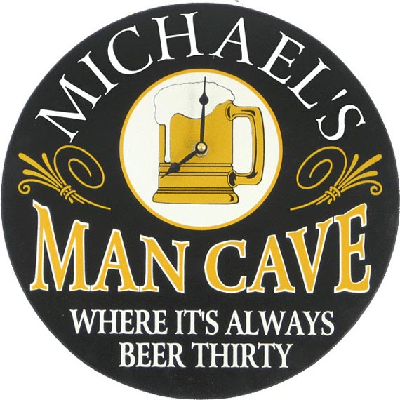 Man cave wall decor clock