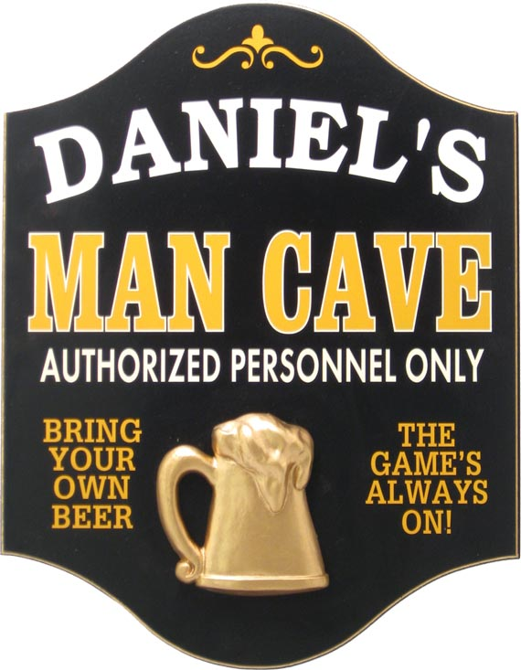 Custom Man Cave Plaque