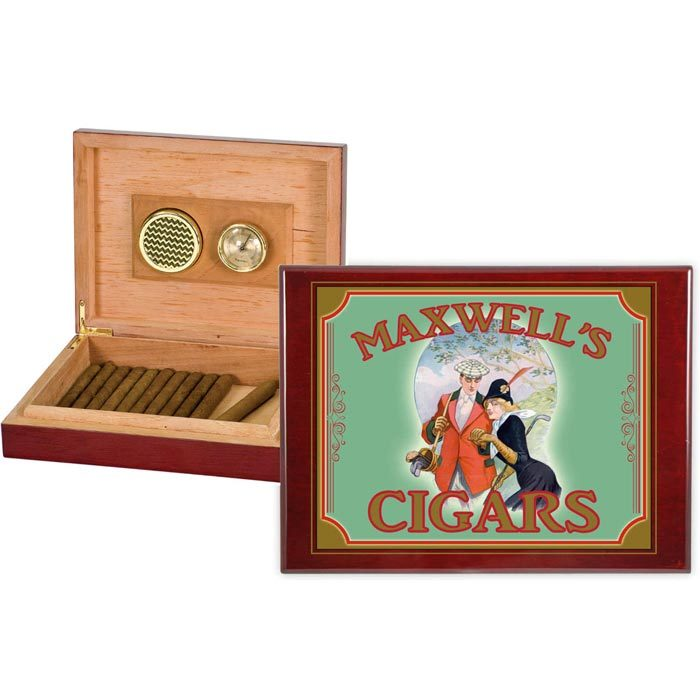 Old fashioned personalized humidor