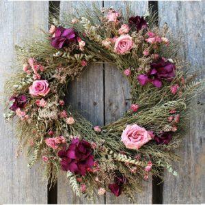 Rustic Rose Wreath