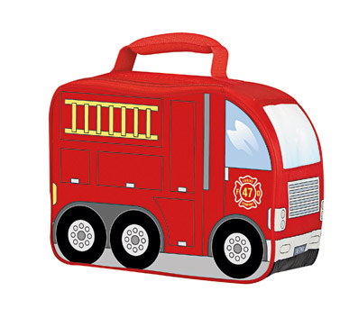 Lunch Tote shaped like a firetruck