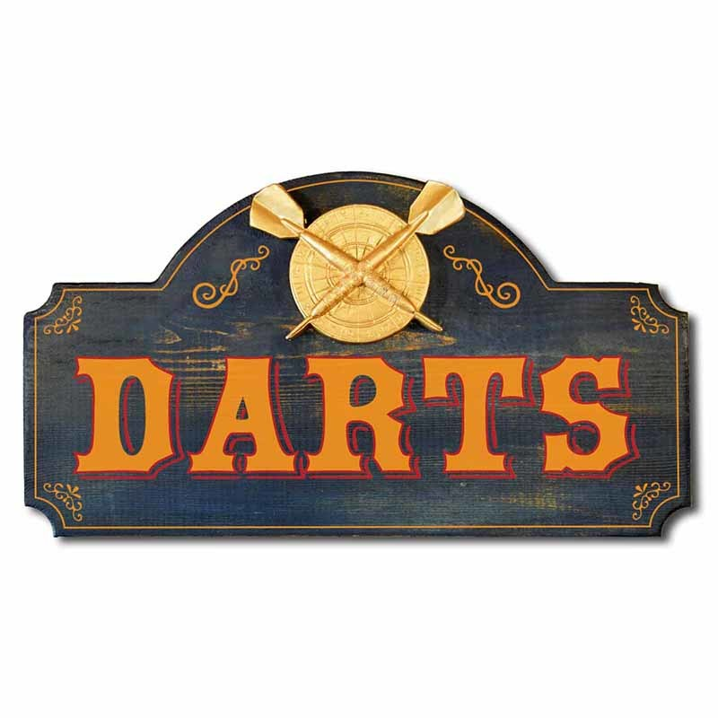 Man Cave Sign with Darts Theme