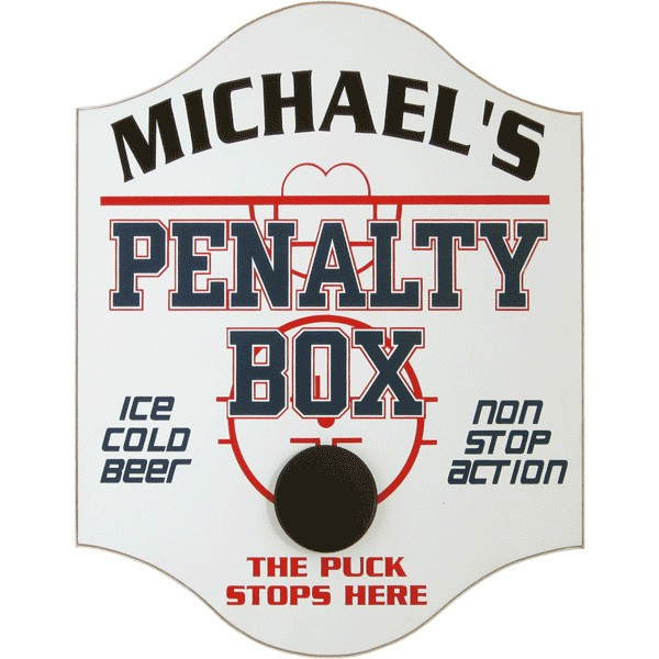 Custom Penalty Box Hockey Pub Sign