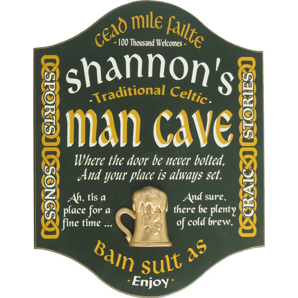 Irish Man Cave Signs