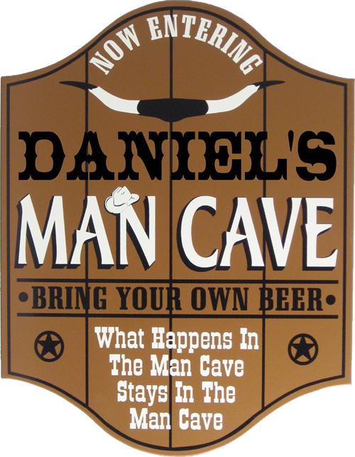 Western Man Cave Plaque