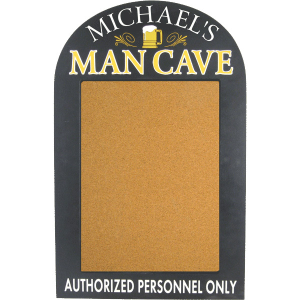 Man Cave Corkboard Plaque