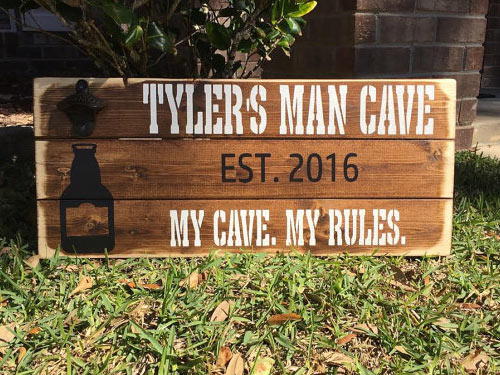 Best Man Cave Signs : Man cave sign my rules all gifts considered