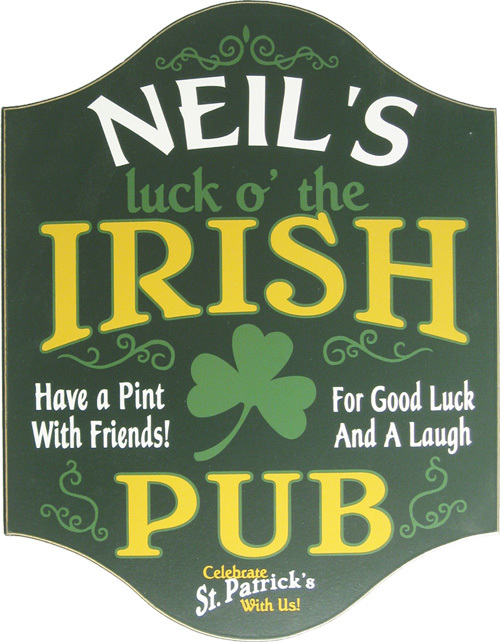 Irish Pub Plaque