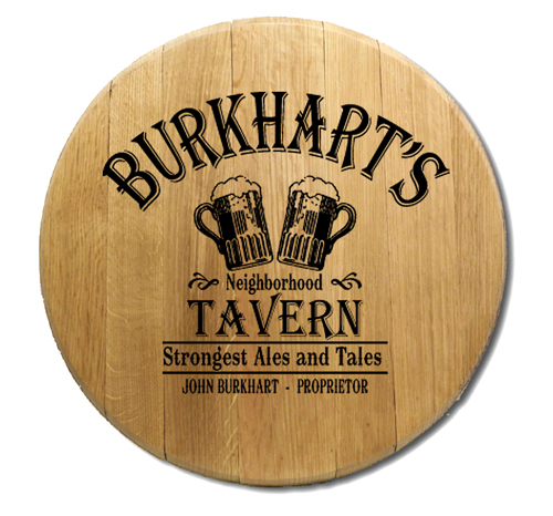 Personalized Barrel Head Sign