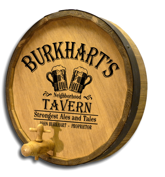 Oak Barrel Man Cave Sign