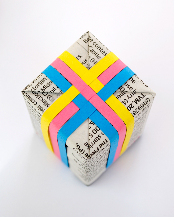 Colorful woven gift wrap