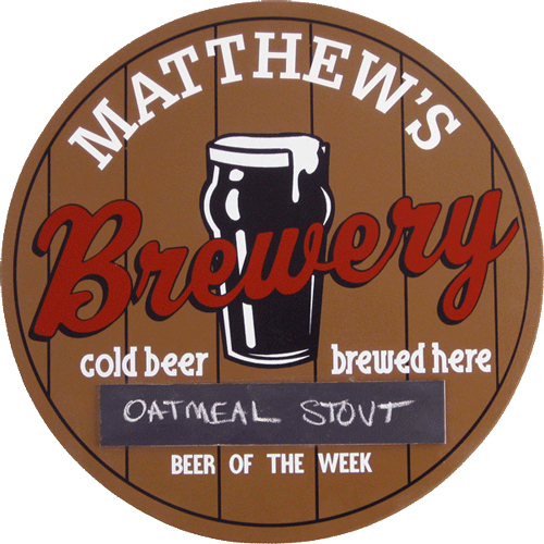 Beer of the Week Brewery Plaque