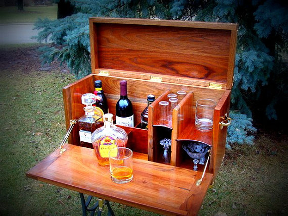 Wood home bar kit for camping