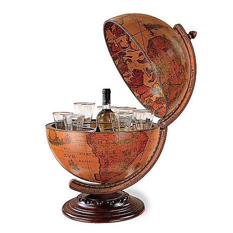 Antique Globe Bar Storage