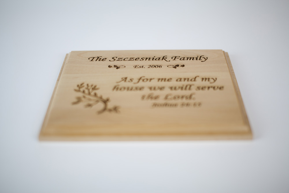 Wooden Laser Engraved Plaques