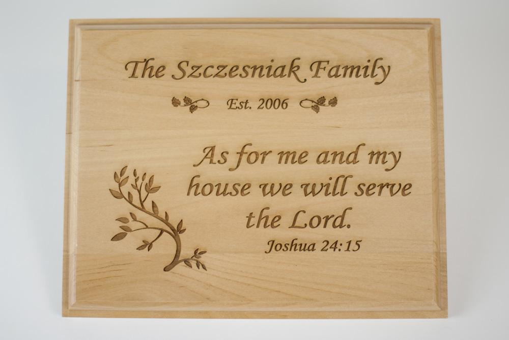 Personalized Joshua 24:15 Plaque