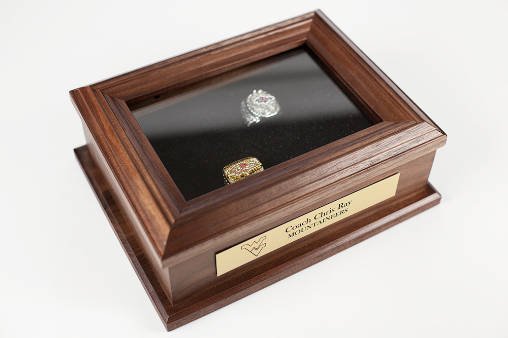 Display Case for Championship Rings