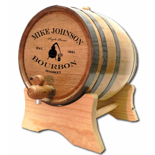 Personalized Bourbon Still Oak Barrel