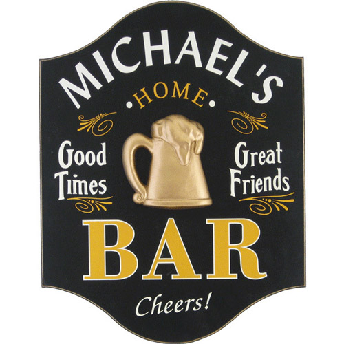 Custom Home Bar Plaque