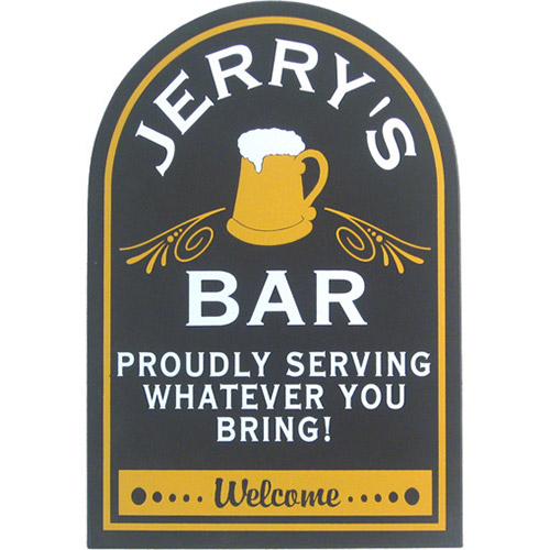 Personalized Bar Plaques