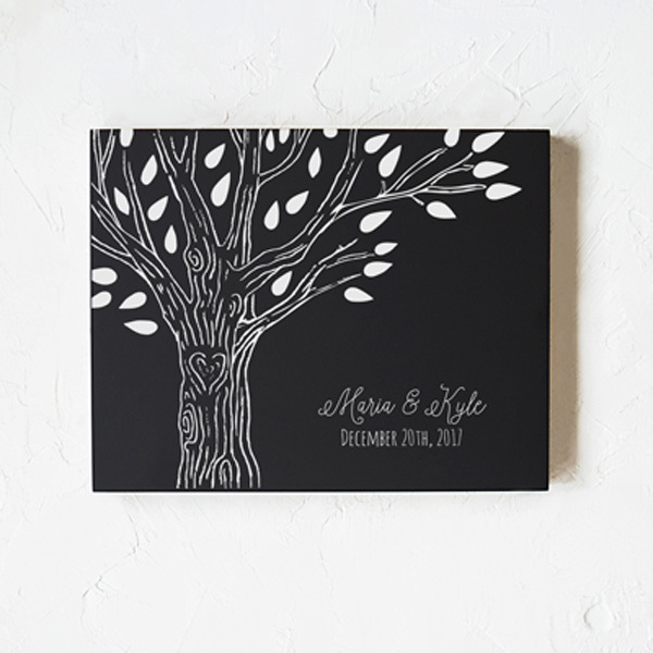 Custom Chalkboard with Family Tree