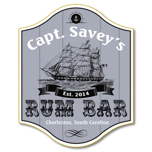 Pirate Themed Home Bar Plaques and Accessories