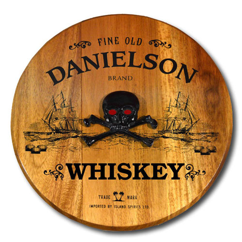 Pirate Barrel Head Sign - Personalized