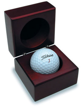 Wooden Golf Ball Box