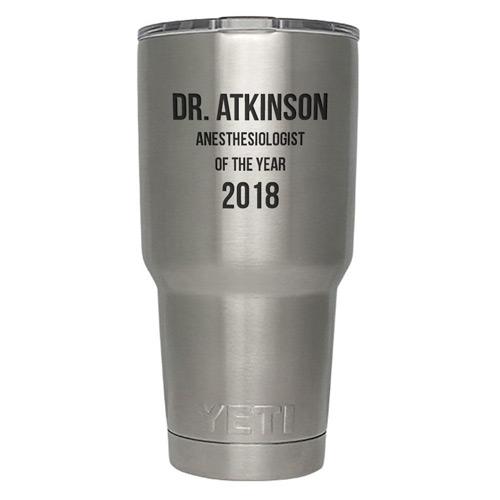 YETI Tumbler Custom Engraved for Anesthesiologist