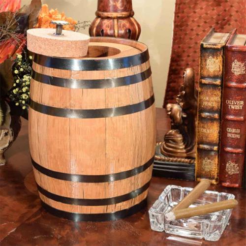 Barrel Humidor for Cigars
