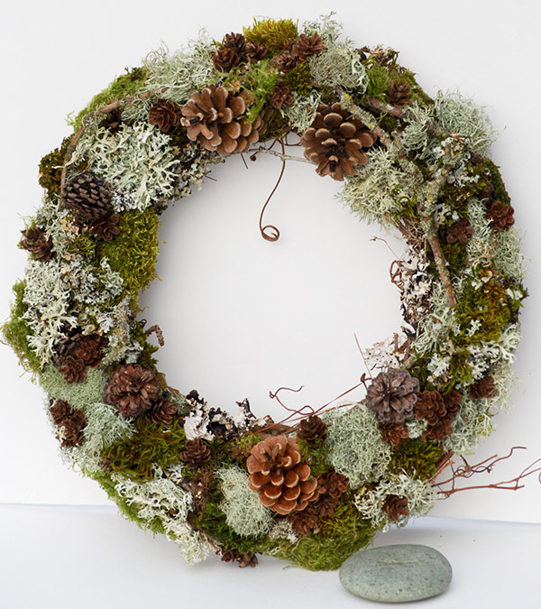 Forest and Twig Organic Holiday Wreaths